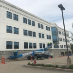 On going restoration and waterproofing at Peabody Properties, Inc located at 536 Granite Street, Braintree, MA