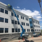 On going restoration and waterproofing at Peabody Properties, Inc located at 536 Granite Street, Braintree, MA 2