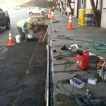 Before picture of Loading Dock Restoration, National Grid - Boston MA