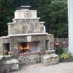 Outdoor Fireplace - Norfolk MA