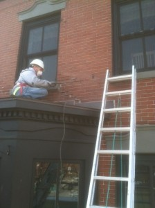 Grinding & Re-pointing Brick word