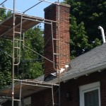 Before picture of Chimney on Commonwealth Ave, Newton, MA 02459 which needed restoration work August 2013