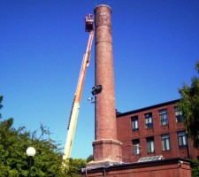 Total Restoration of Chimney Stack - Malden MA