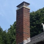 After picture for Chimney restoration/re-pointing with custom made stainless steel chimney cap, Commonwealth Ave, Newton, MA