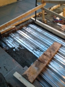 Metal decking pans for new ceiling and vaults